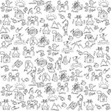 Casual objects seamless pattern Royalty Free Stock Image
