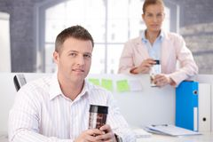 Casual office workers having break Stock Image