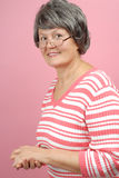Casual older woman stock images