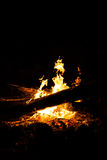 Casual outdoor fire camp at night Royalty Free Stock Photos