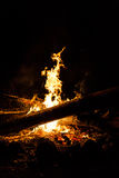 Casual outdoor fire camp at night Stock Photography