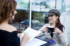 Casual outside business meeting Stock Photography