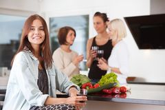 Casual party at home Royalty Free Stock Photography