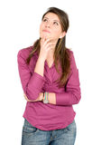 Casual pensive girl Royalty Free Stock Photography