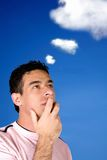 Casual pensive man Royalty Free Stock Photography