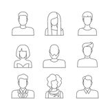 Casual people faces profile avatar  icons Royalty Free Stock Images