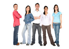Casual people - full body Royalty Free Stock Images