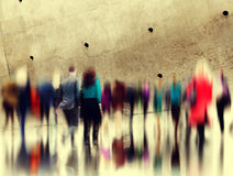 Casual People Rush Hour Walking Commuting City Concept.  Royalty Free Stock Image