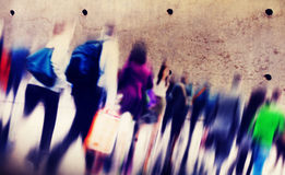 Casual People Rush Hour Walking Commuting City Concept.  Stock Photography