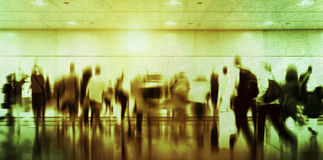 Casual People Rush Hour Walking Commuting City Concept Stock Images