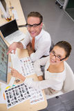 Casual photo editors at work in office Stock Photo