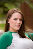 Casual Portrait. A young woman poses for a casual portrait Royalty Free Stock Images