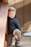 Casual portrait of a cute toddler boy Royalty Free Stock Photos