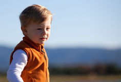 Casual portrait of a cute toddler boy in a vest Stock Photography