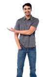 Casual portrait of handsome cool smiling guy Royalty Free Stock Photos