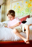 Casual portrait of little boy at home Royalty Free Stock Images