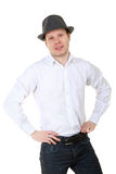 Casual portrait of a man hat Royalty Free Stock Photos