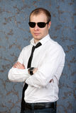 Casual portrait of a man in sunglasses Stock Photography