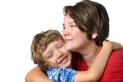 Casual portrait mother and son Royalty Free Stock Photo