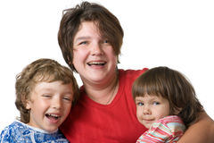Casual portrait mothers with children Stock Photo
