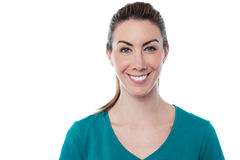 Casual portrait of smiling young woman Stock Image