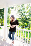 Casual pregnant woman Royalty Free Stock Photos
