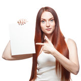 Casual red woman Stock Photography