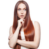 Casual red woman Royalty Free Stock Photography