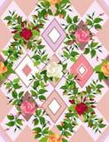 Casual roses seamless Stock Photos