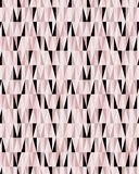 Casual seamless pink and black geometric triangles vector pattern royalty free illustration