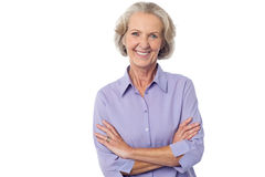 Casual senior smiling woman Royalty Free Stock Image