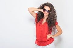 Casual sexy woman posing Stock Photos