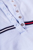 Casual shirt collar and texture detail Stock Images