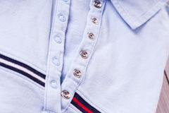 Casual shirt collar and texture detail Stock Photography