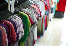 Casual shirt shop Stock Photography
