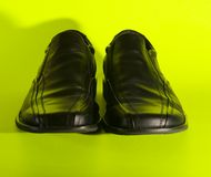 Casual shoes. View of shoes on green bkg Royalty Free Stock Photography