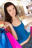 Casual shopping woman Royalty Free Stock Photography
