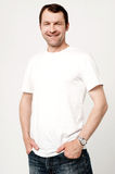 Casual shot of relaxed male model Royalty Free Stock Photography