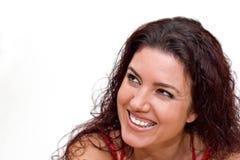 Casual Smile. Woman casual smile. Copy space Stock Photos