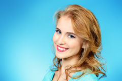 Casual smiling blonde Stock Photos