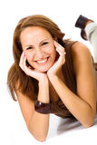 casual smiling woman Στοκ εικόνες με δικαίωμα ελεύθερης χρήσης