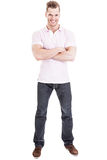 Casual smiling young man isolated Stock Images
