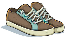 Casual Sneakers. Cartoon illustration of casual sneakers Royalty Free Stock Photo