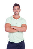 Casual strong men Royalty Free Stock Image