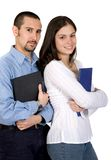 Casual student couple Royalty Free Stock Photography