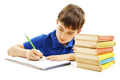 Casual student doing homework Royalty Free Stock Photo