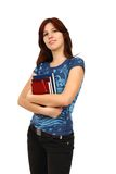 Casual student holding books Royalty Free Stock Images