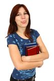 Casual student holding books Royalty Free Stock Photos