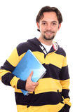 Casual student with a notebook Stock Image