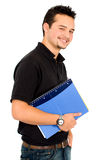 Casual student with a notebook Stock Photography